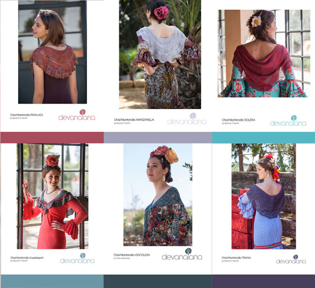 patrones para mantoncillos de flamenca de la colección 2016 de devanalana